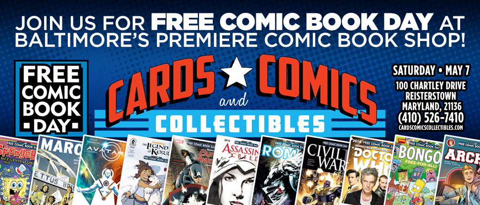 Free Comic Book Day web graphics
