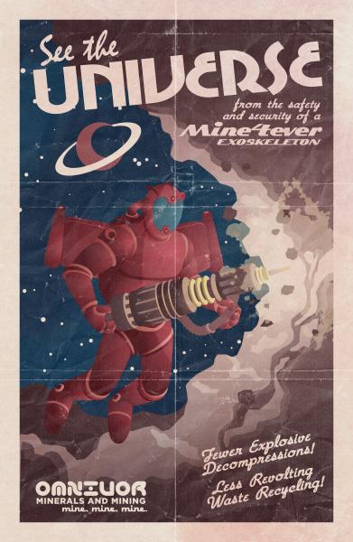 Retro Print: Universe