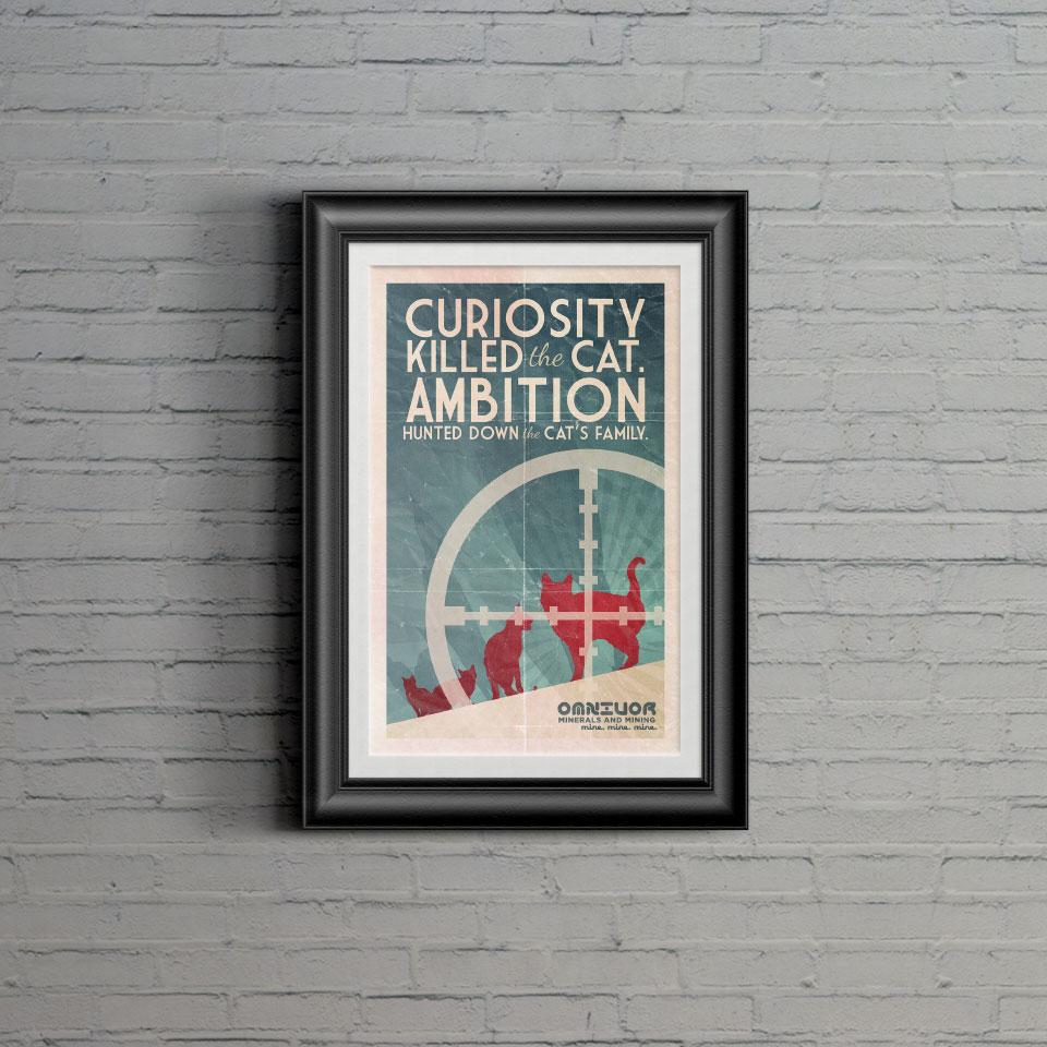 """Curiosity"" print"