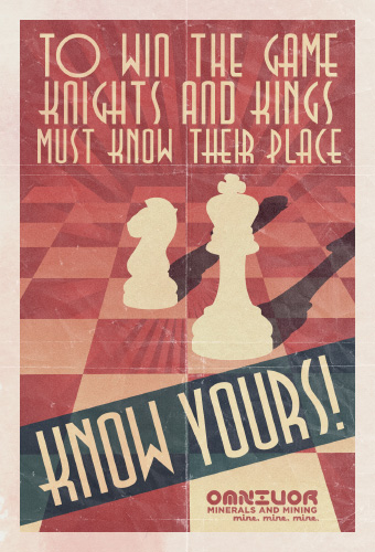 Knights and Kings Must Know Their Place. Know Yours!