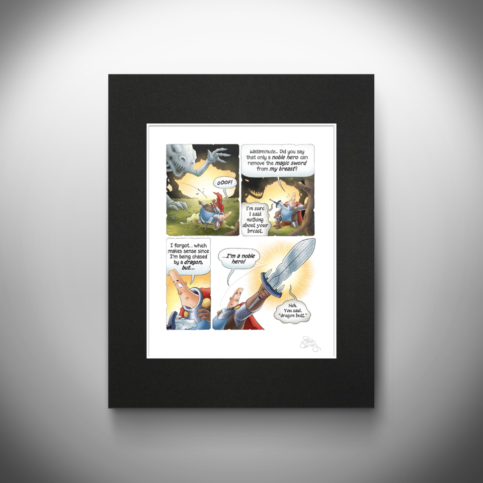 Print of The Middle Age comic strip Episode Seven