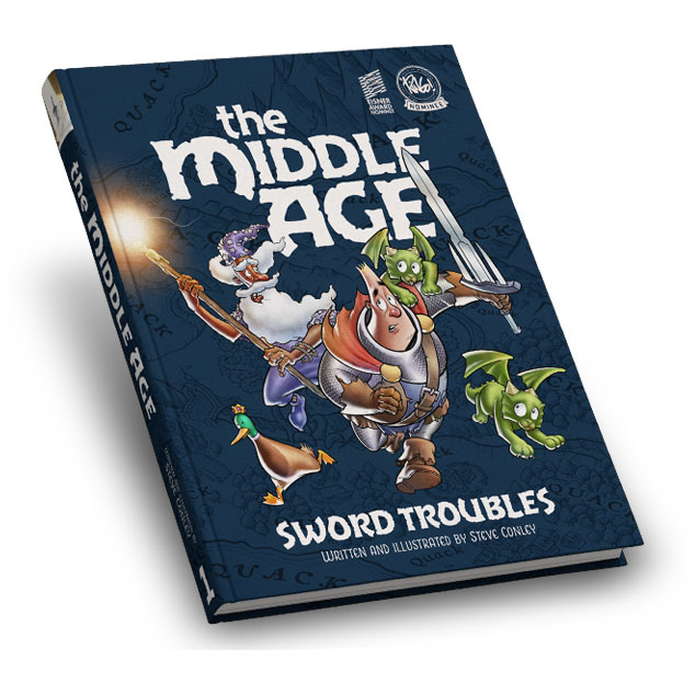 The Middle Age: Volume 1 - Hardcover mockup
