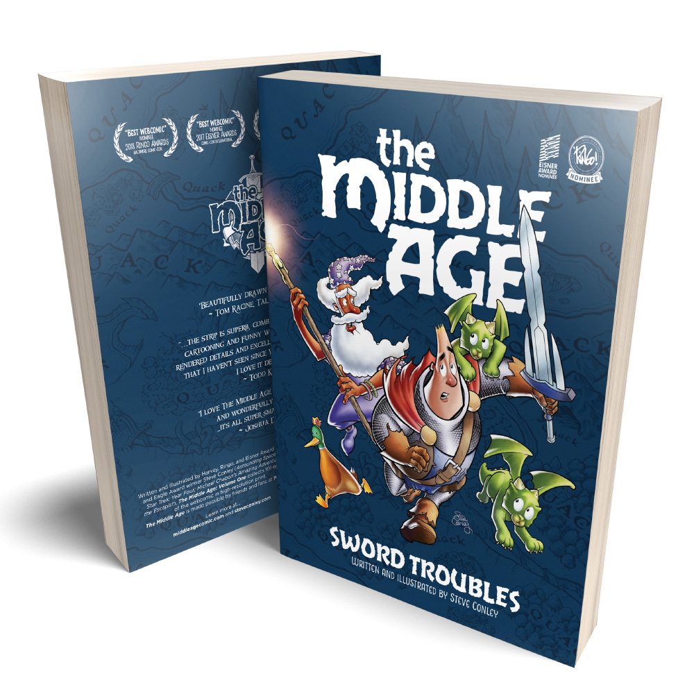 The Middle Age Volume One softcover mockup