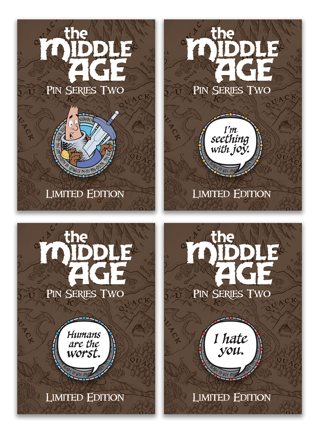 The Middle Age pins - Series Two
