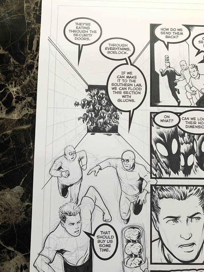 "Astounding Space Thrills ""Mooch's Loot"" Issue 15 Page 1 Original Artwork"