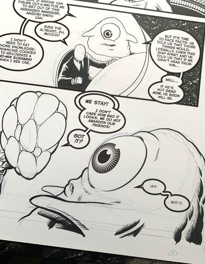 "Astounding Space Thrills ""Mooch's Loot"" Issue 15 Page 2 Original Artwork"