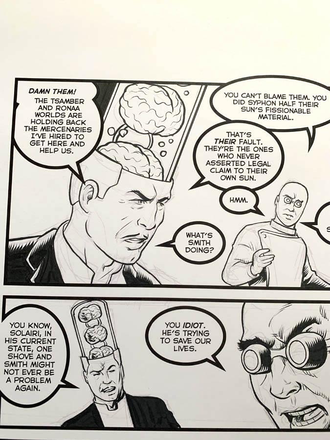 "Astounding Space Thrills ""Mooch's Loot"" Issue 15 Page 4 Original Artwork"