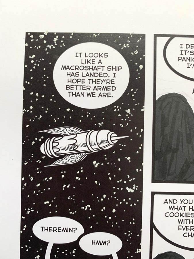"Astounding Space Thrills ""Mooch's Loot"" Issue 15 Page 5 Original Artwork"
