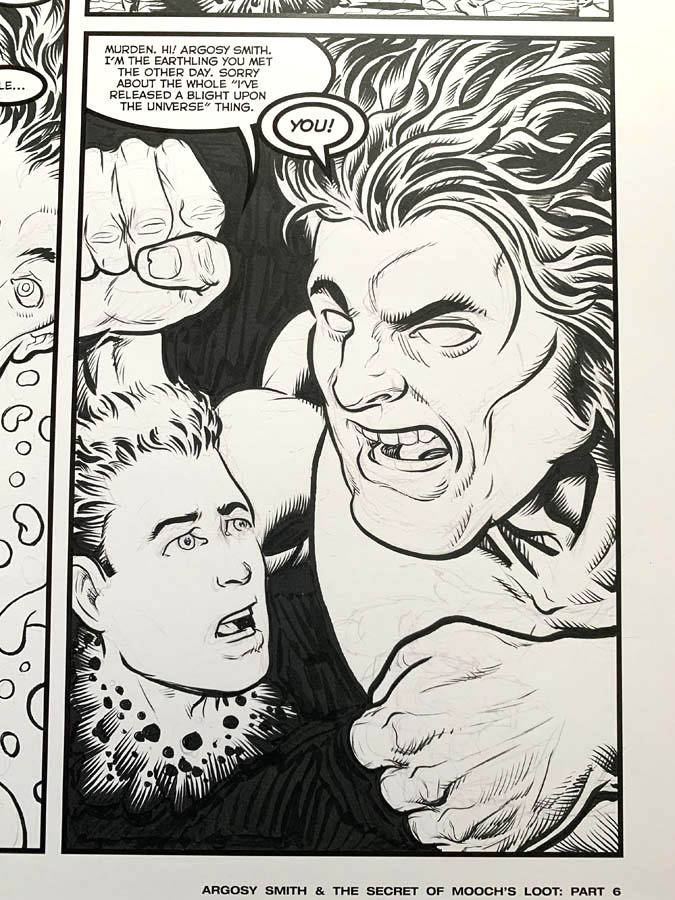 "Astounding Space Thrills ""Mooch's Loot"" Issue 15 Page 6 Original Artwork"