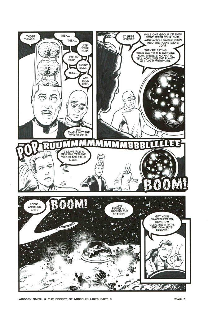 "Astounding Space Thrills ""Mooch's Loot"" Issue 15 Page 7 Original Artwork"