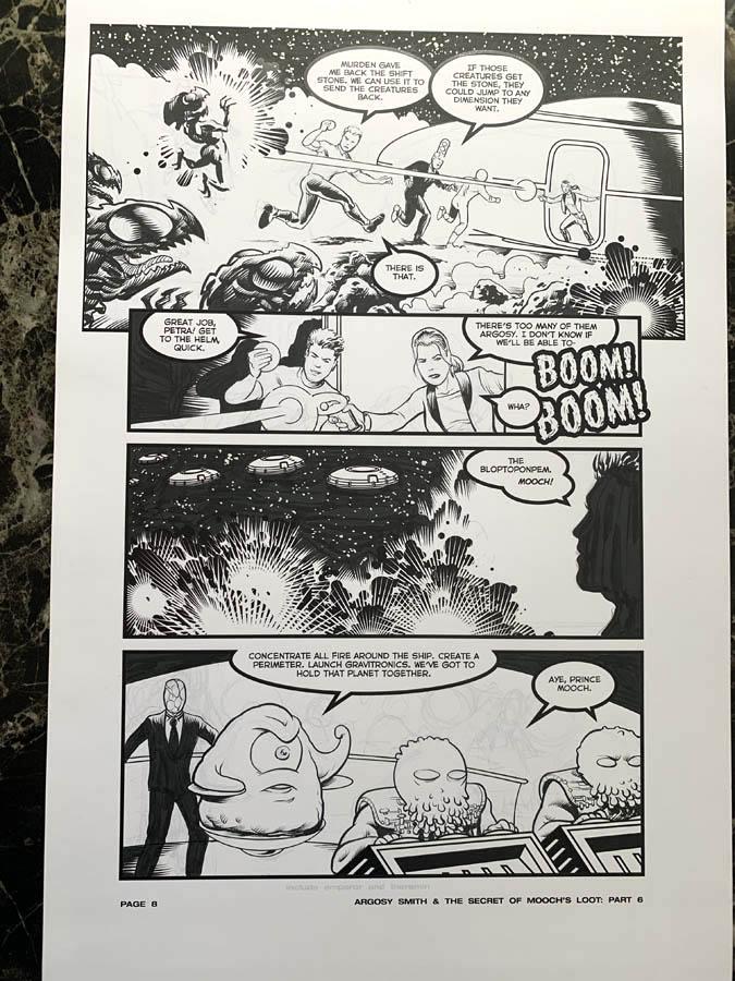 "Astounding Space Thrills ""Mooch's Loot"" Issue 15 Page 8 Original Artwork"