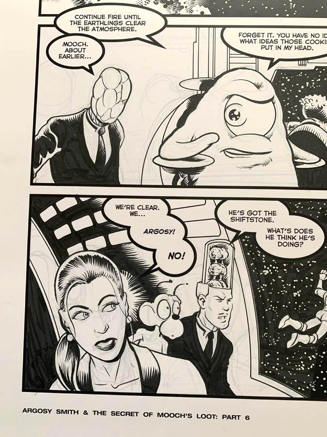 "Astounding Space Thrills ""Mooch's Loot"" Issue 15 Page 9 Original Artwork"