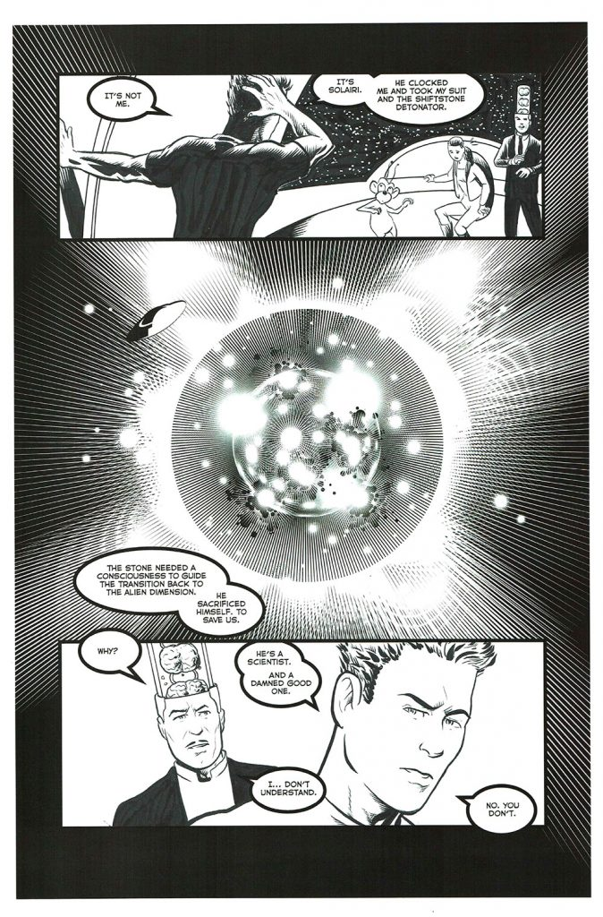 "Astounding Space Thrills ""Mooch's Loot"" Issue 15 Page 10 Original Artwork"